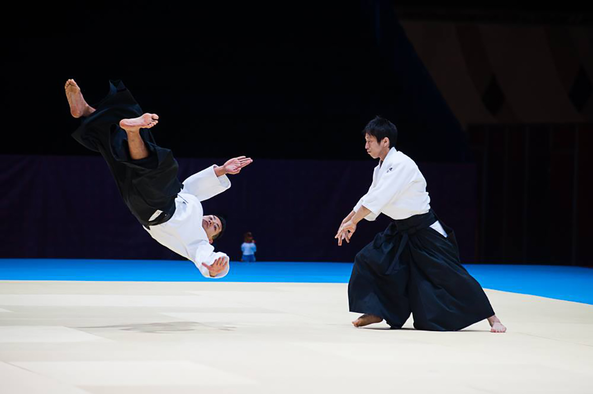 Ryuji Sensei demonstrating aikido at the World Combat Games 2013